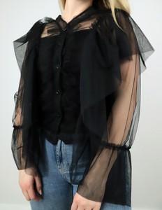 Bluzka MON BOUTIQUE w stylu casual z tiulu