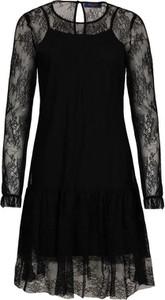 Sukienka Trussardi Jeans mini rozkloszowana z długim rękawem