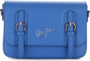 Eleganckie torebki skórzane listonoszki vittoria gotti kobaltowe