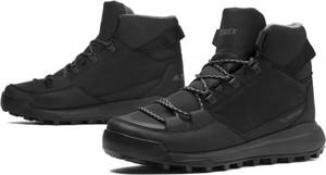 Czarne buty zimowe Adidas sznurowane
