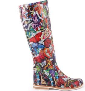 Zapato kozaki - skóra naturalna - model 127 - kolor motyl