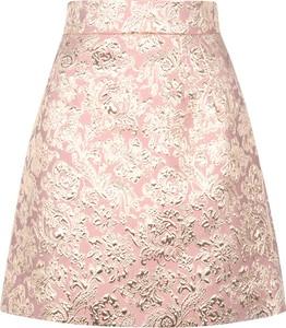 Różowa spódnica Dolce & Gabbana z wełny