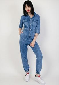 Niebieski kombinezon Olika z jeansu