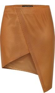 Brązowa spódnica KOSTES ze skóry