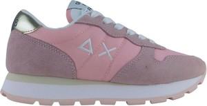 Różowe buty sportowe Sun68 sznurowane