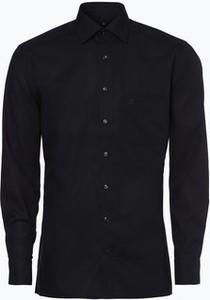 Czarna koszula Olymp Luxor Modern Fit z bawełny z długim rękawem