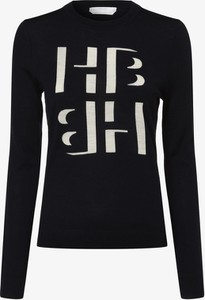 Granatowy sweter Hugo Boss w stylu casual