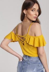 Żółta bluzka Renee w młodzieżowym stylu