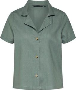 Zielona koszula Vero Moda z kołnierzykiem