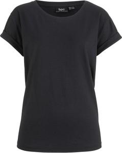 Czarny t-shirt bonprix bpc bonprix collection z krótkim rękawem