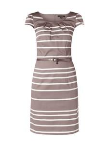 Sukienka comma, z krótkim rękawem z bawełny z okrągłym dekoltem