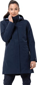 Granatowy płaszcz Jack Wolfskin z plaru