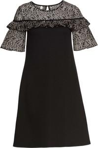 Czarna sukienka bonprix BODYFLIRT boutique midi z okrągłym dekoltem