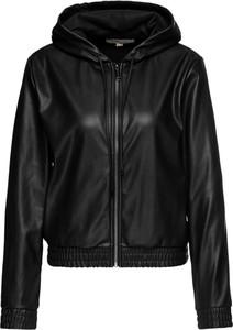 Czarna kurtka Michael Kors krótka w rockowym stylu