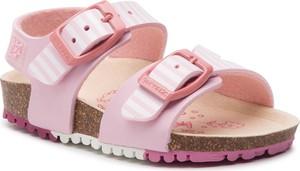 Różowe buty dziecięce letnie GARVALIN na rzepy
