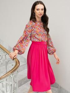Różowa spódnica L'AF z szyfonu