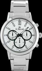 ZEGAREK MĘSKI GINO ROSSI - 10762B (zg193a) + BOX - Srebrny