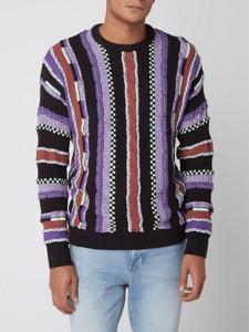 Sweter Review z okrągłym dekoltem w młodzieżowym stylu