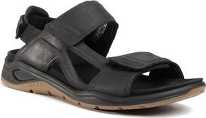 Buty letnie męskie Ecco na rzepy ze skóry