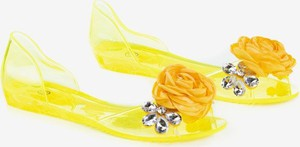 Żółte baleriny Royalfashion.pl z płaską podeszwą