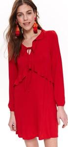 Czerwona sukienka Troll midi w stylu casual