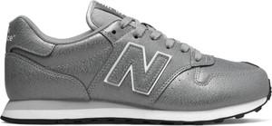 Srebrne buty sportowe New Balance sznurowane