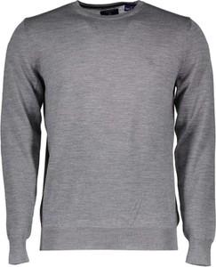 Sweter Gant z dżerseju w stylu casual