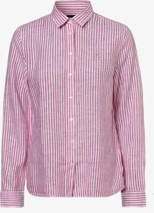 Różowa koszula Gant z lnu