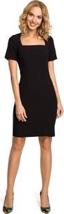 Czarna sukienka MOE ołówkowa w stylu casual midi
