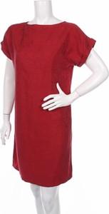 Czerwona sukienka Skunkfunk z krótkim rękawem