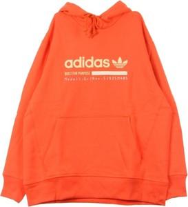 Pomarańczowa bluza Adidas w młodzieżowym stylu