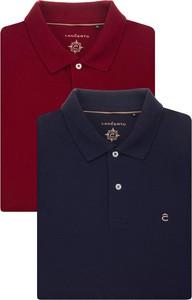 Koszulka polo LANCERTO w stylu casual z krótkim rękawem z bawełny