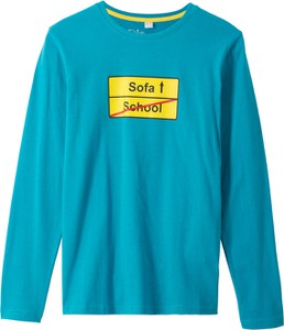Niebieska koszulka dziecięca bonprix bpc bonprix collection