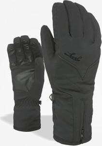 Czarne rękawiczki Level ze skóry