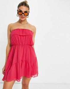 Czerwona sukienka Asos z żakardu hiszpanka bez rękawów