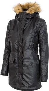 Granatowa kurtka 4F w stylu casual długa z bawełny