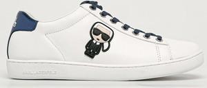 Buty sportowe Karl Lagerfeld ze skóry sznurowane z płaską podeszwą