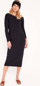 Czarna sukienka Byinsomnia ołówkowa z bawełny