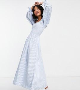 Niebieska sukienka New Look Petite gorsetowa midi w stylu casual