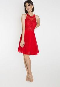 Czerwona sukienka Marcelini z tiulu