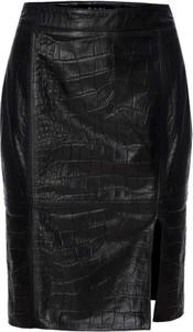 Czarna spódnica Fan Leather ze skóry