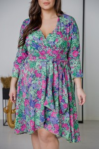 Sukienka tono.sklep.pl mini z długim rękawem z dekoltem w kształcie litery v