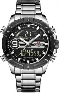 Zegarek NAVIFORCE - NF9146S (zn089a) - silver/black + BOX - Srebrny