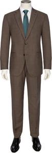 Brązowy garnitur Tom Rusborg z wełny