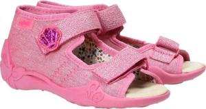 Buty dziecięce letnie Befado dla dziewczynek na rzepy