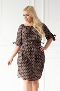 Brązowa sukienka Sklep XL-ka hiszpanka mini