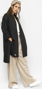 Płaszcz Freeshion z lnu w stylu casual