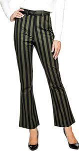 Zielone spodnie Guess z bawełny
