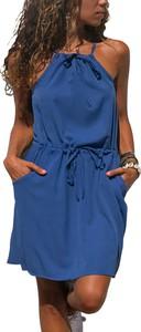 Sukienka Estera w stylu casual z okrągłym dekoltem