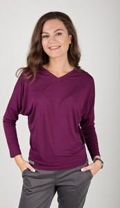 Fioletowa bluzka Easy Peasy w stylu casual z długim rękawem